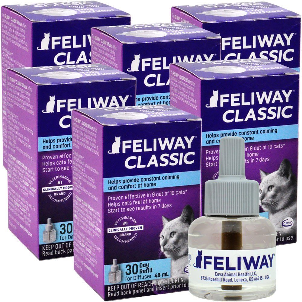 6 PACK FELIWAY CLASSIC Refill for Cats (288 mL) im test