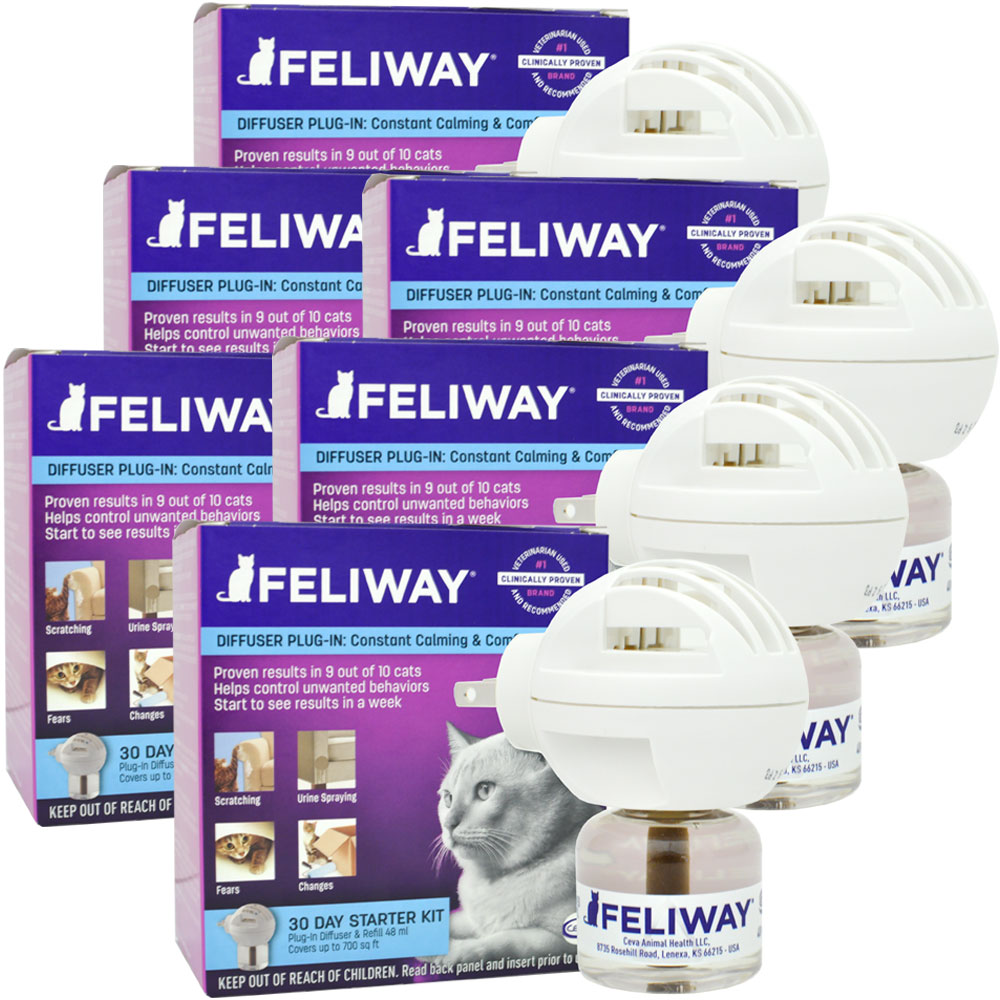 6 PACK FELIWAY 30 Day Starter Kit (288mL) im test