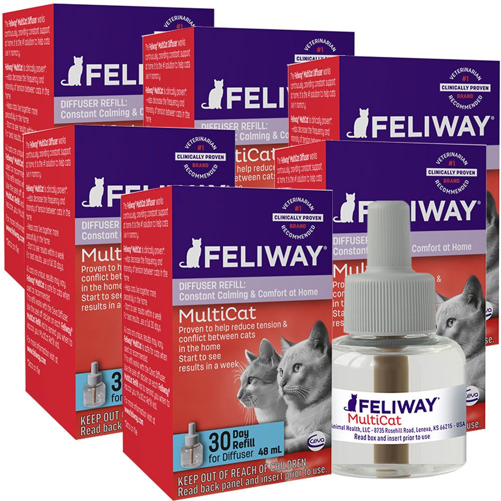 6-PACK FELIWAY MultiCat Refill for Cats (288 ml) im test