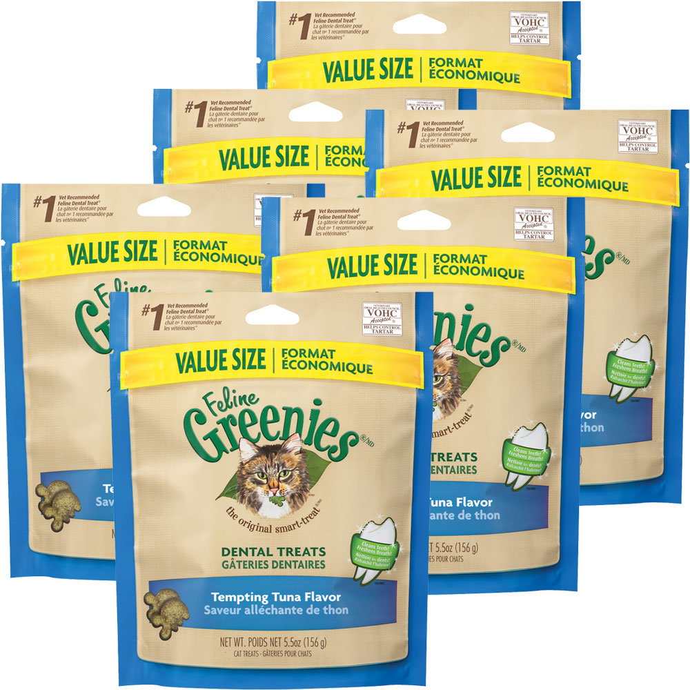 Greenies Feline Dental Treats - Tempting Tuna Flavor 6-Pack (16.5 oz) im test