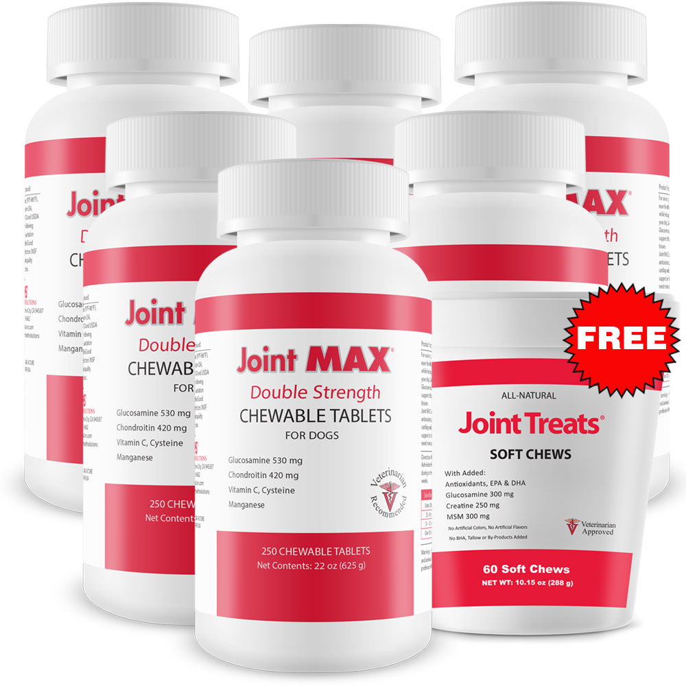 6-PACK Joint MAX Double Strength (1500 Chewable Tablets) + FREE Joint Treats im test