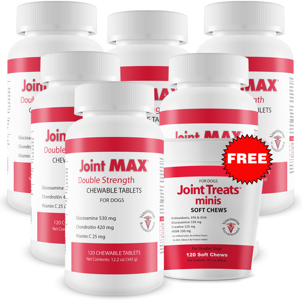 6-PACK Joint MAX Double Strength (720 Chewable Tablets) + FREE Joint Treats Minis im test