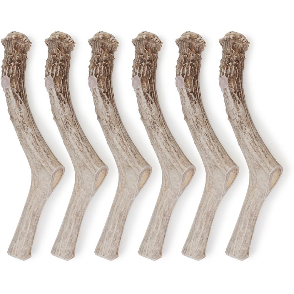 """6-PACK Spizzles Deer Antler Dog Chew - Solid (Jumbo) 9"""""" im test"