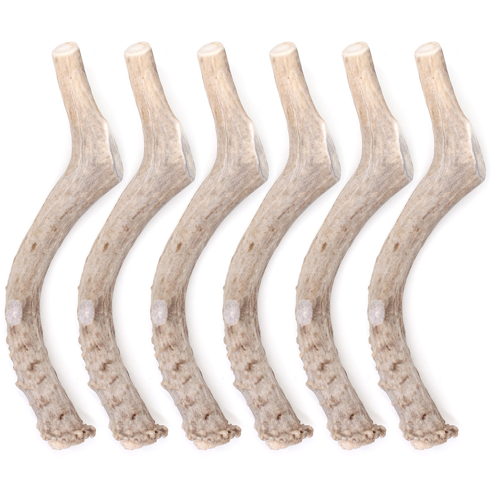 """6-PACK Spizzles Deer Antler Dog Chew - Solid (Large) 7"""""" im test"