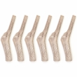 6-PACK Spizzles Deer Antler Dog Chew - Solid (Medium) 5""