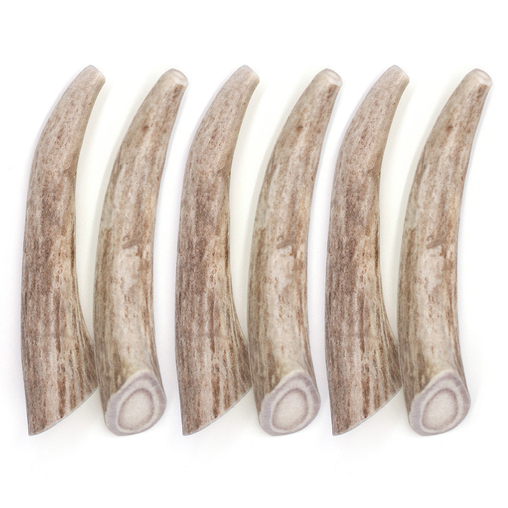 """6-PACK Spizzles Deer Antler Dog Chew - Solid (Small) 4"""""" im test"