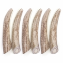 """6-PACK Spizzles Deer Antler Dog Chew - Solid (Small) 4"""""""