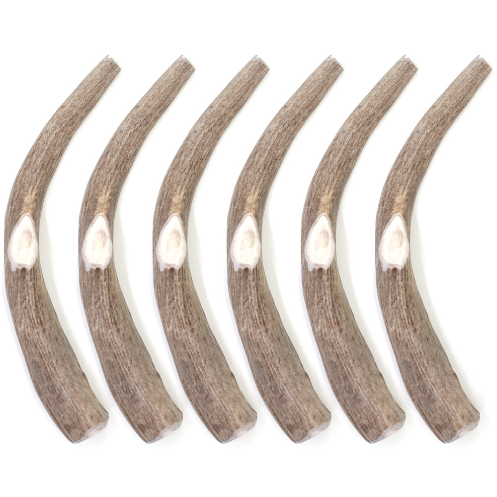 """6-PACK Spizzles Deer Antler Dog Chew - Solid (XLarge) 8"""""" im test"