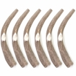 6-PACK Spizzles Deer Antler Dog Chew - Solid (XLarge) 8""