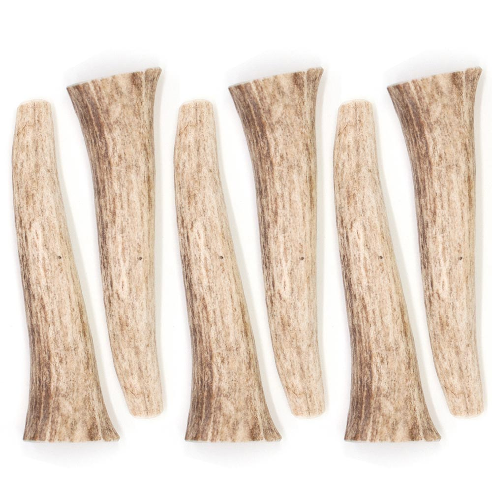 """""""6-PACK Spizzles Elk Antler Dog Chew - Solid (Small) 4"""""""""""" im test"""