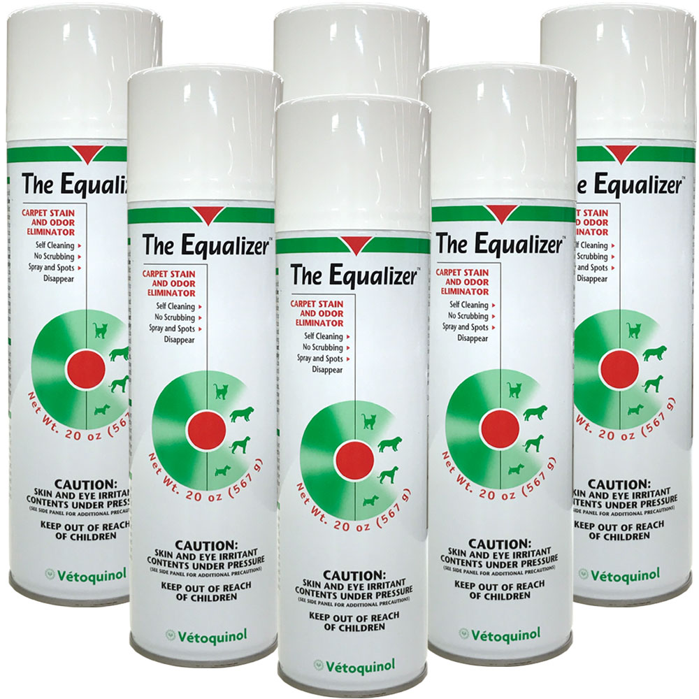 Image of 6-PACK The Equalizer Carpet Stain and Odor Eliminator (120 oz) + FREE Pet Hair Remover