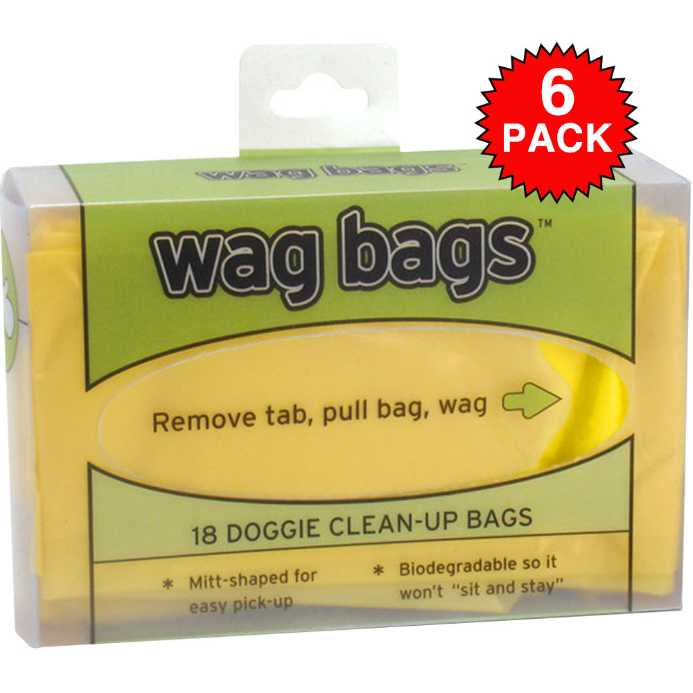 6 PACK Wag Bags Doggie Clean-up Bags - 108 Count im test