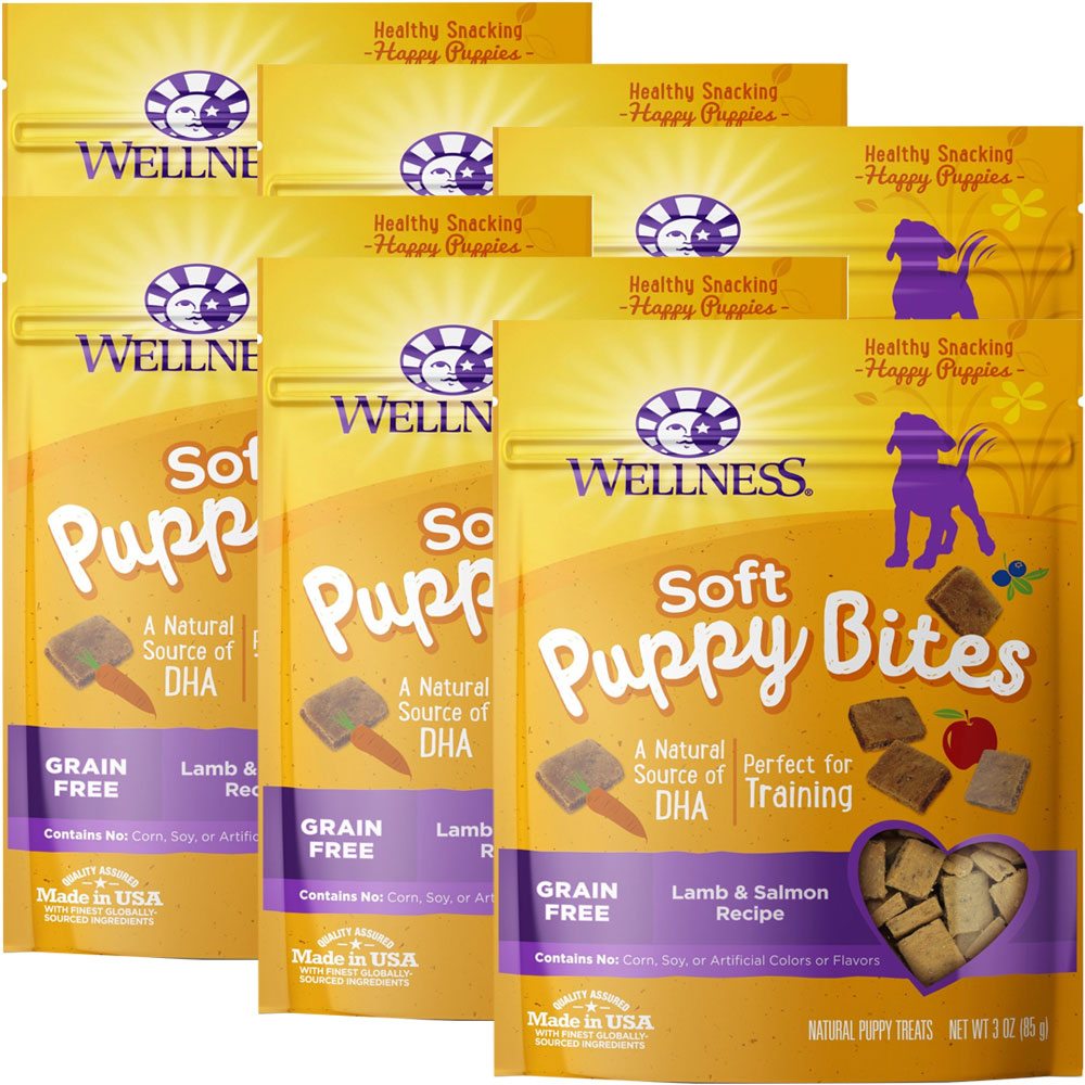 WELLNESS-PUPPY-BITES-LAMB-SALMON-18-OZ