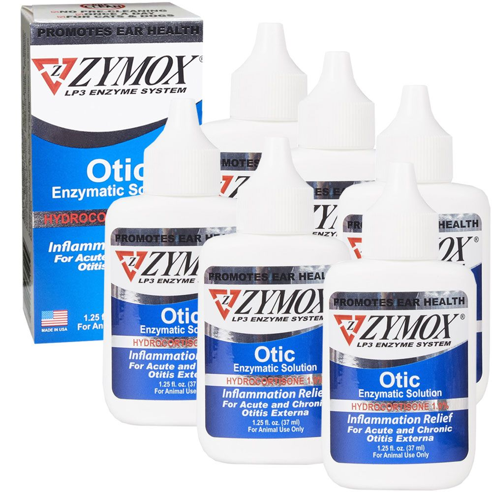 Image of 6-PACK Zymox Otic (7.5oz) with Hydrocortisone (1.0%)