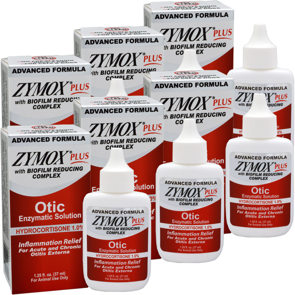Image of 6-PACK Zymox PLUS Otic-HC Enzymatic Solution (7.5 oz)