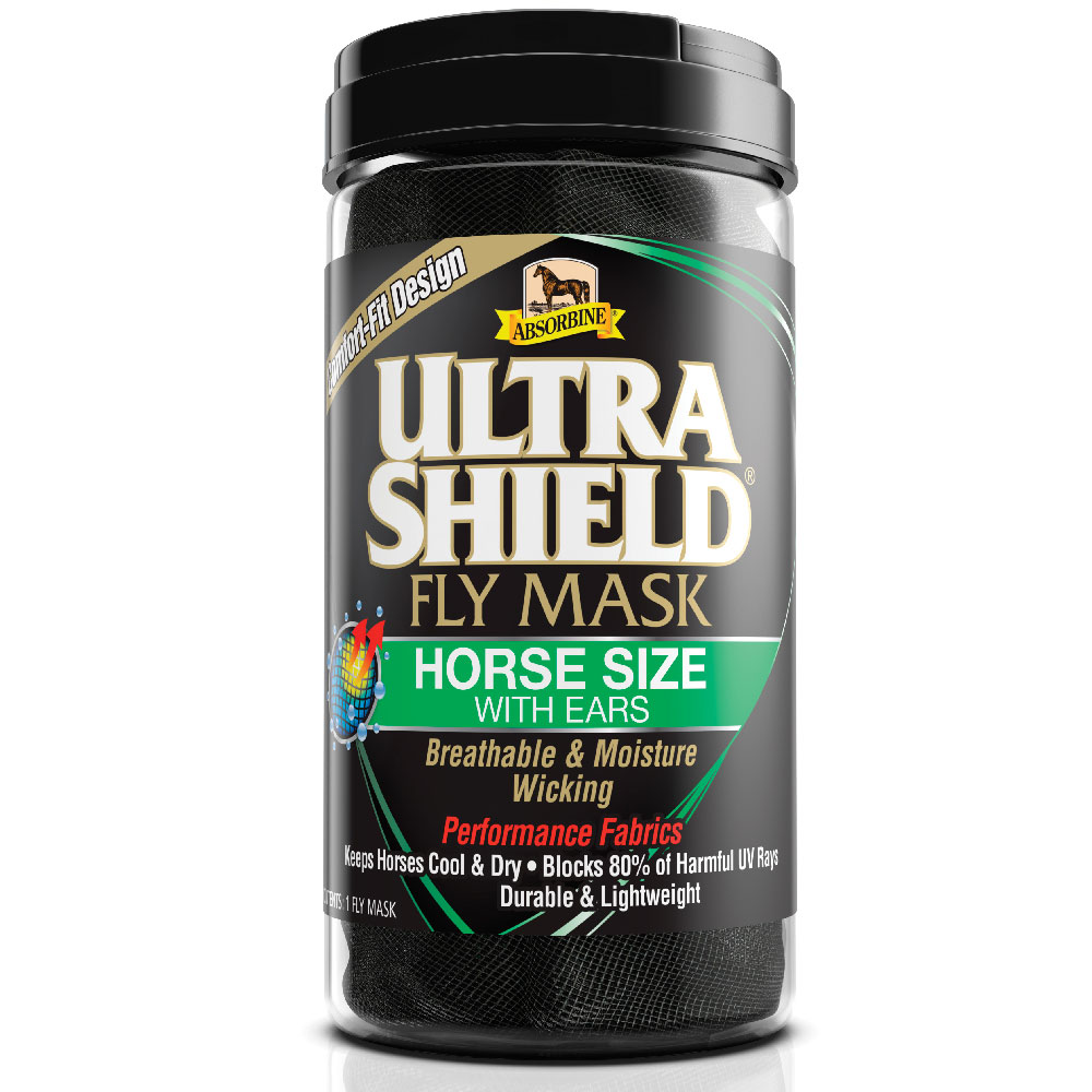 Absorbine UltraShield Fly Mask, Horse Size with Ears im test