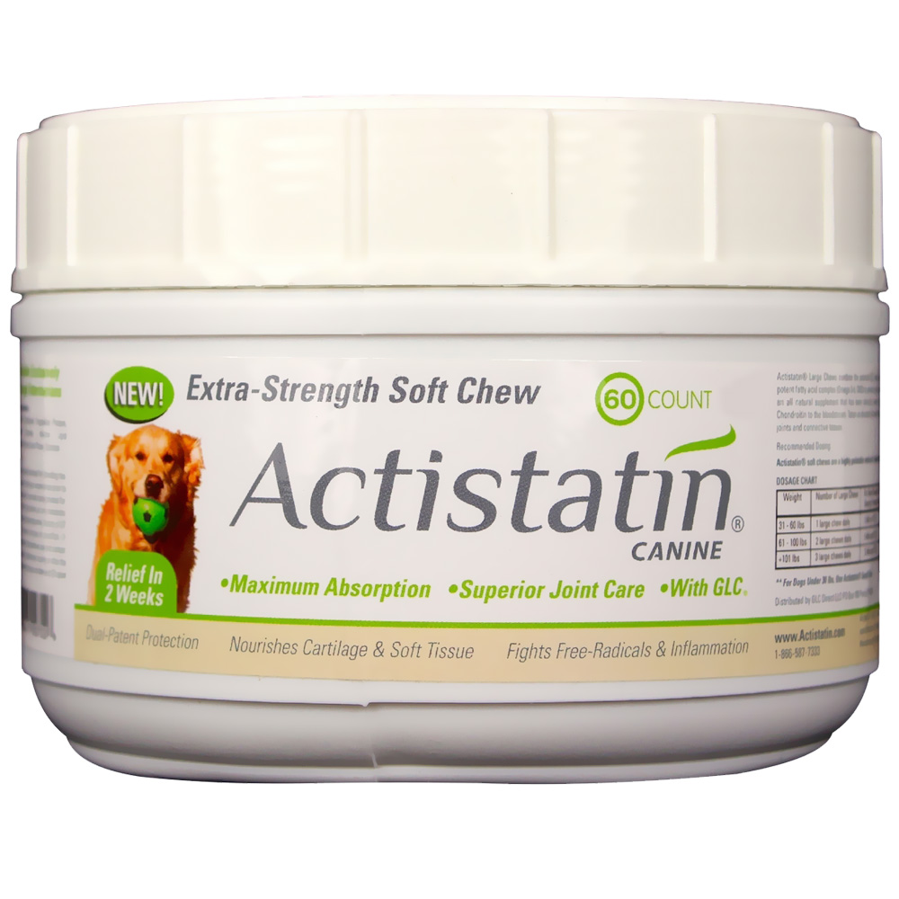Image of Actistatin Canine Extra Strength Soft Chews Large - 60 ct - from EntirelyPets