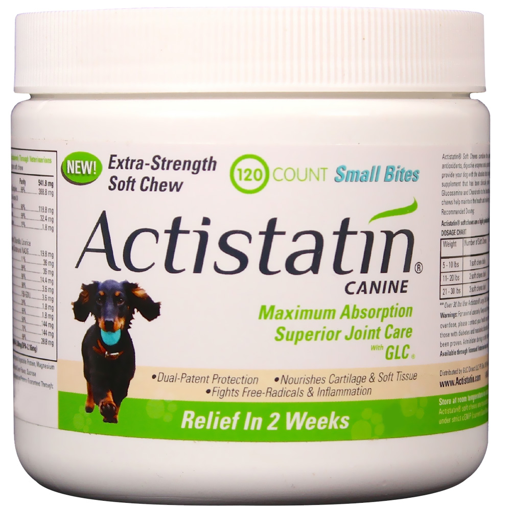 Image of Actistatin Canine Extra Strength Soft Chews Small Bites - 120 ct - from EntirelyPets