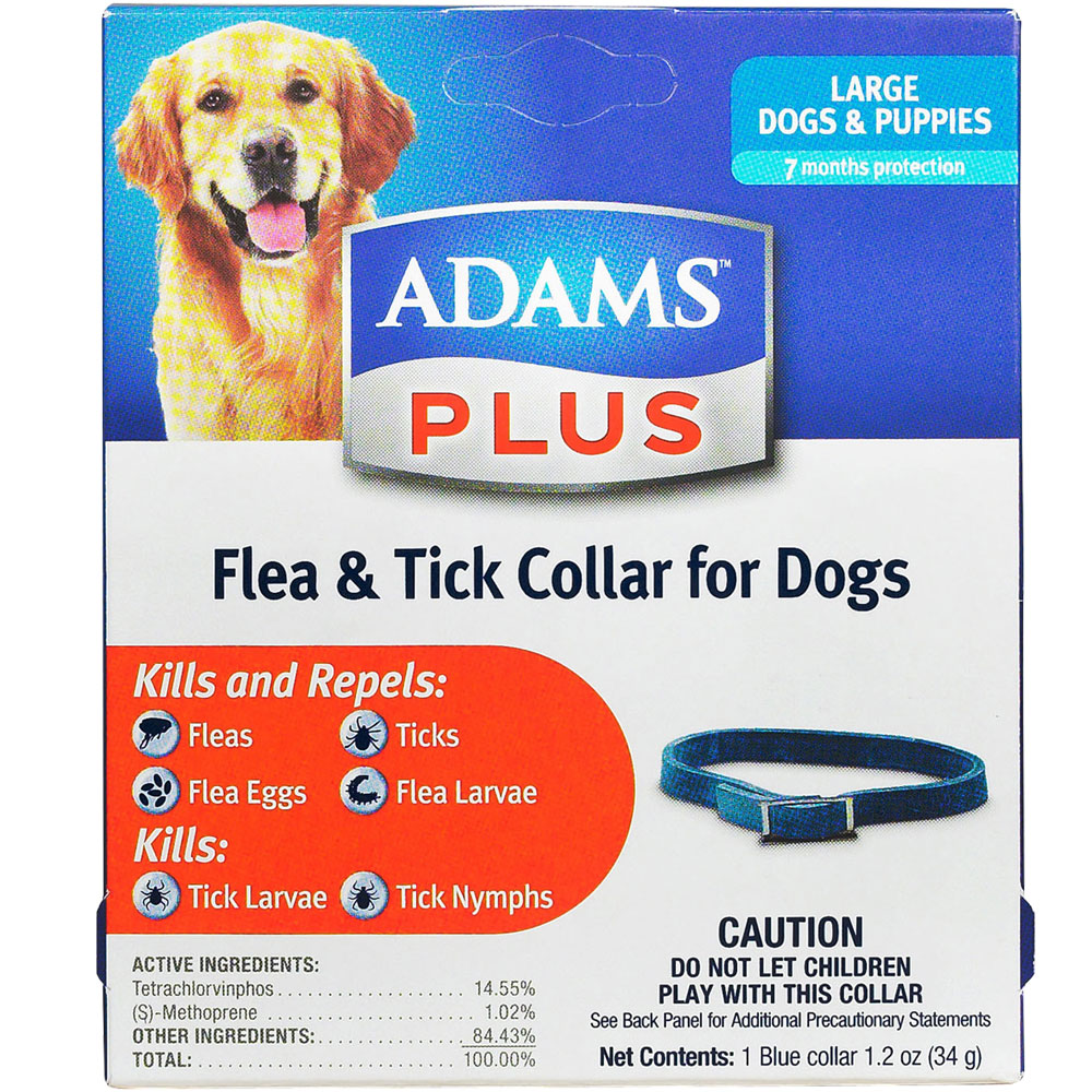 Image of Adams Plus Flea & Tick Collar for Large Dogs (7 Months)
