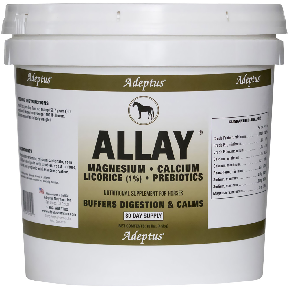 Image of Adeptus Allay Antacid Buffer & Calmer for Horses (10 lbs)