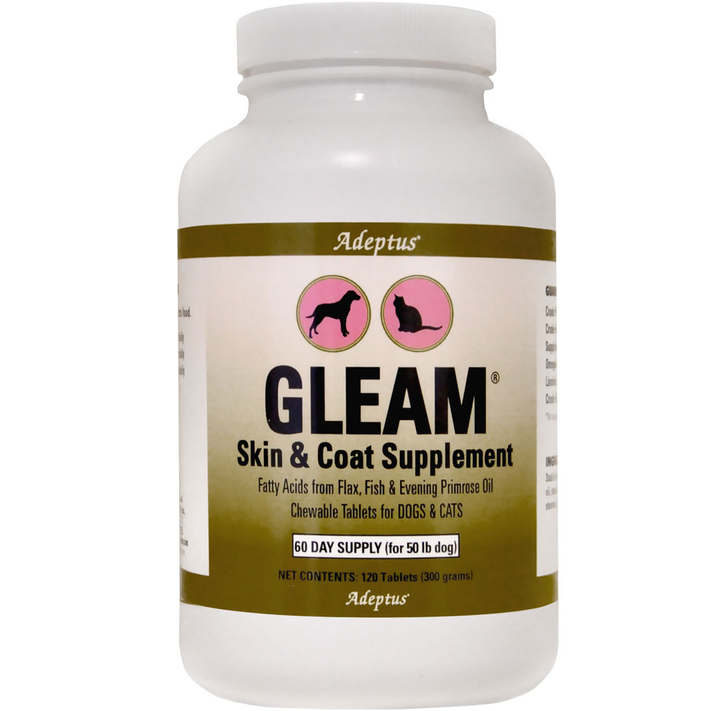 Adeptus Gleam Skin & Coat Supplement for Pets (120 tablets) im test