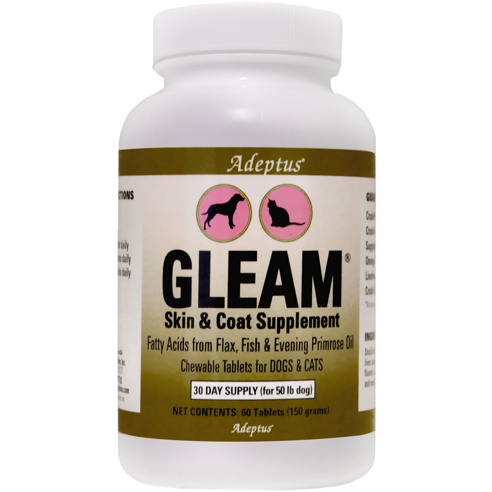 Adeptus Gleam Skin & Coat Supplement for Pets (60 tablets) im test