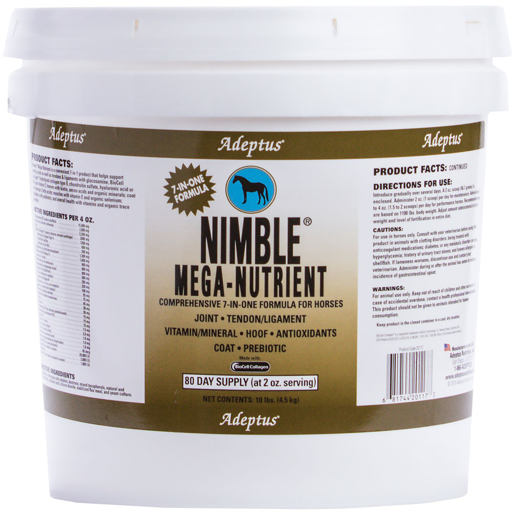 Adeptus Nimble Mega-Nutrient 7-In-One Formula for Horses (10 lbs) im test