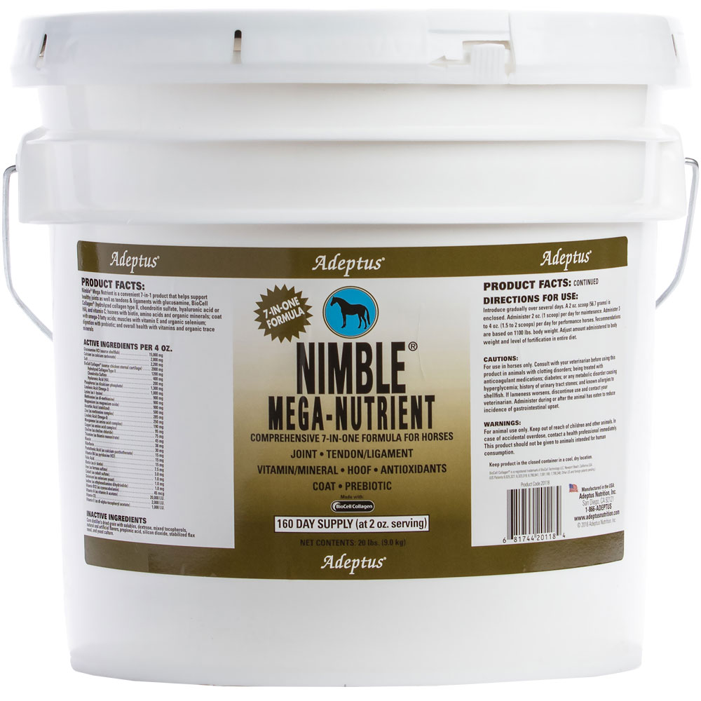 Adeptus Nimble Mega-Nutrient 7-In-One Formula for Horses (20 lbs) im test