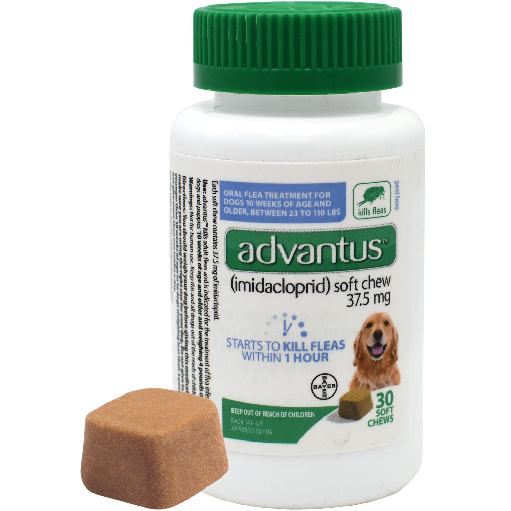 http://www.entirelypets.com - Advantus Oral Flea Soft Chews for Large Dogs (30 count) 54.98 USD