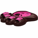 "Aikiou Activity Food Center for Dogs - Brown/Fuchsia (14"" x 12"" x 3"")"