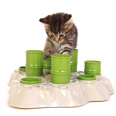 AIKIOU-STIMULO-ACTIVITY-FOOD-CENTER-CATS-GRAY-GREEN