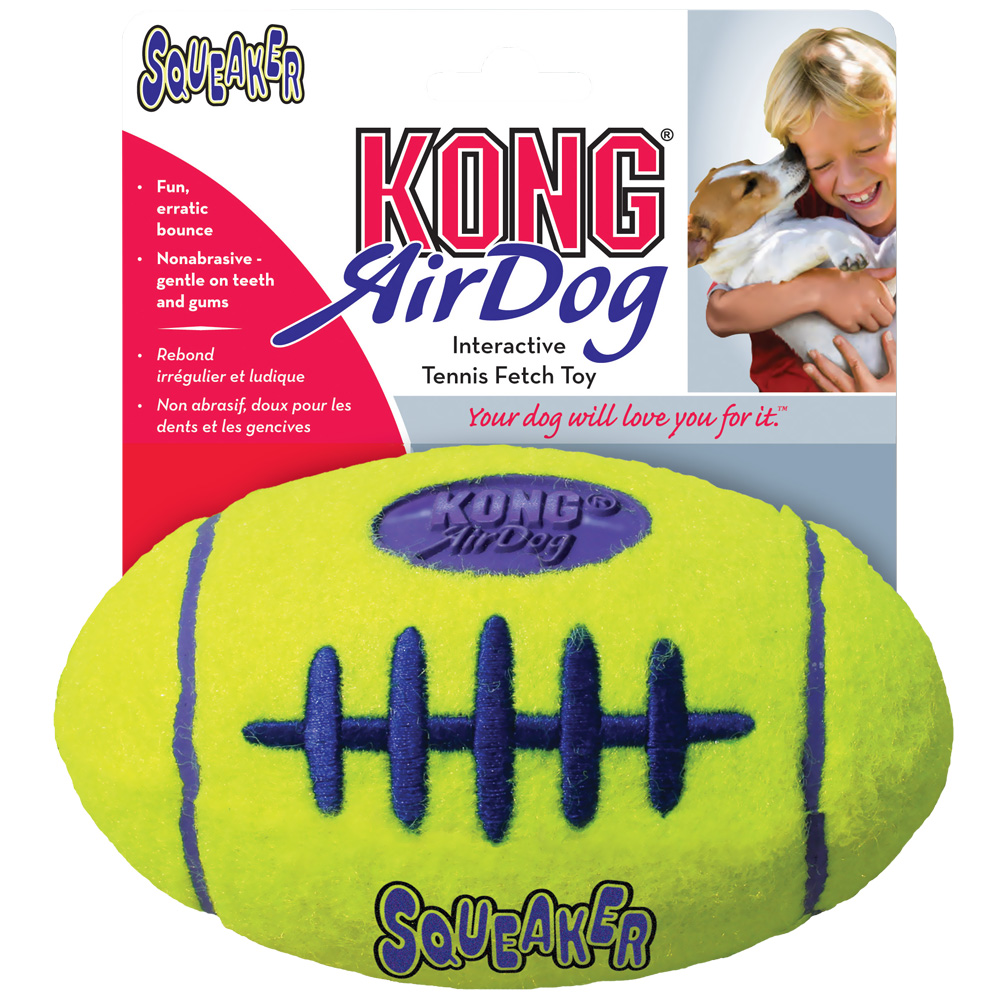 Air KONG Squeaker Football - Medium im test