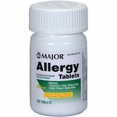 Major Allergy Chlorpheniramine Maleate 4mg (100 Tablets)