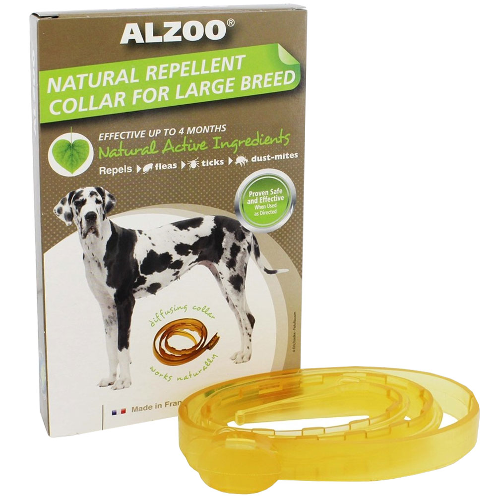 Image of Alzoo Natural Repellent Flea & Tick Collar for Dogs - Large Breed