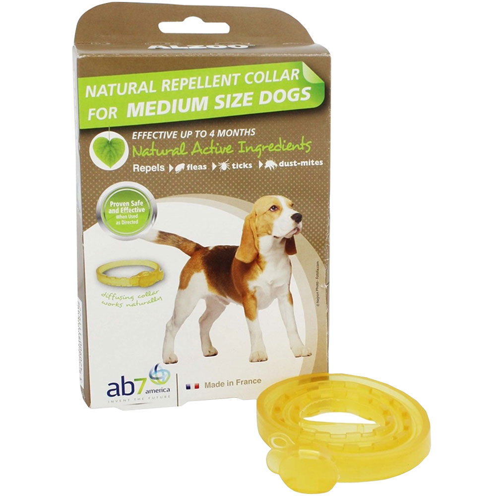 Image of Alzoo Natural Repellent Flea & Tick Collar for Dogs - Medium Breed