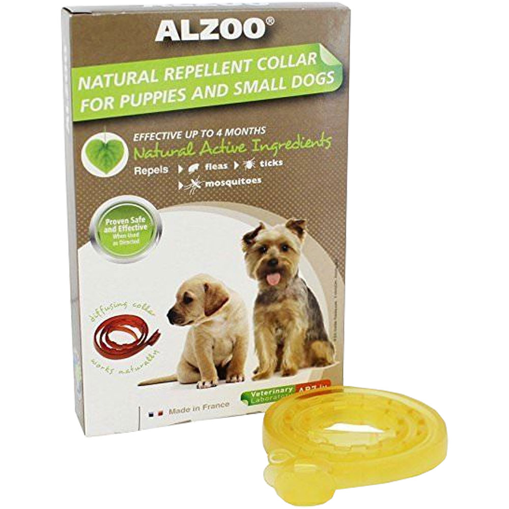 Image of Alzoo Natural Repellent Flea & Tick Collar for Dogs - Puppy/Small Breed