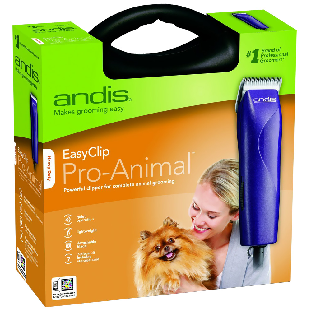 Andis EasyClip Pro-Animal Pet Clipper Kit - 7 Pieces - For Dogs - from Entirely Pets