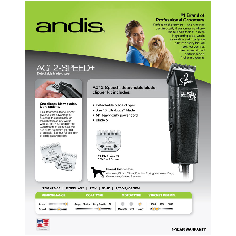 ANDIS-PLUS-AG-2-SPEED-PET-GROOMING-CLIPPER