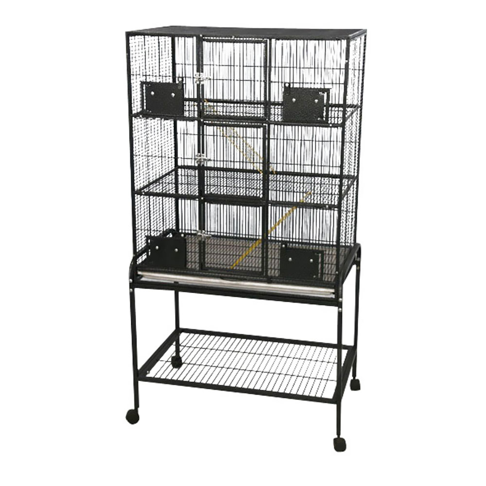 Animal Cage with Removable Base - Platinum - 32x21x63 - 3 Level from EntirelyPets