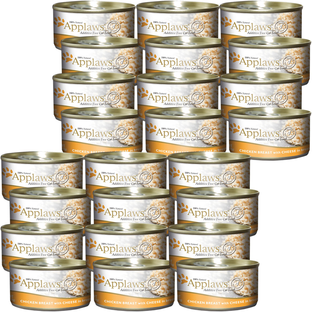 Image of Applaws Additive Free - Chicken Breast with Cheese Canned Cat Food (24x5.5 oz)