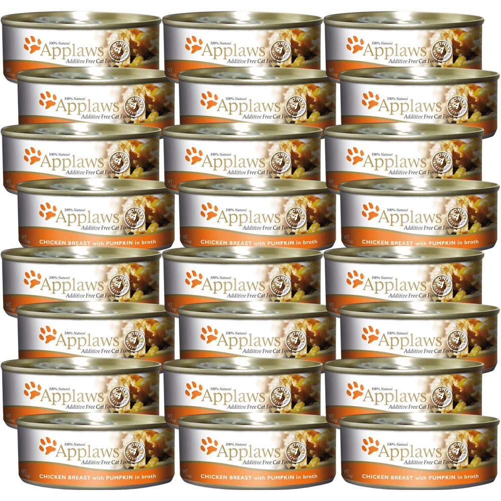 Image of Applaws Additive Free - Chicken Breast with Pumpkin Canned Cat Food (24x2.47 oz)