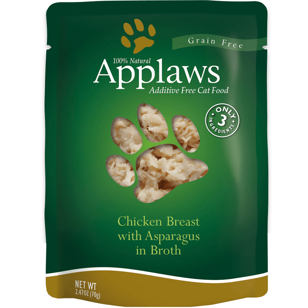 Image of Applaws Additive Free - Chicken Breast with Asparagus in Broth (2.47 oz)