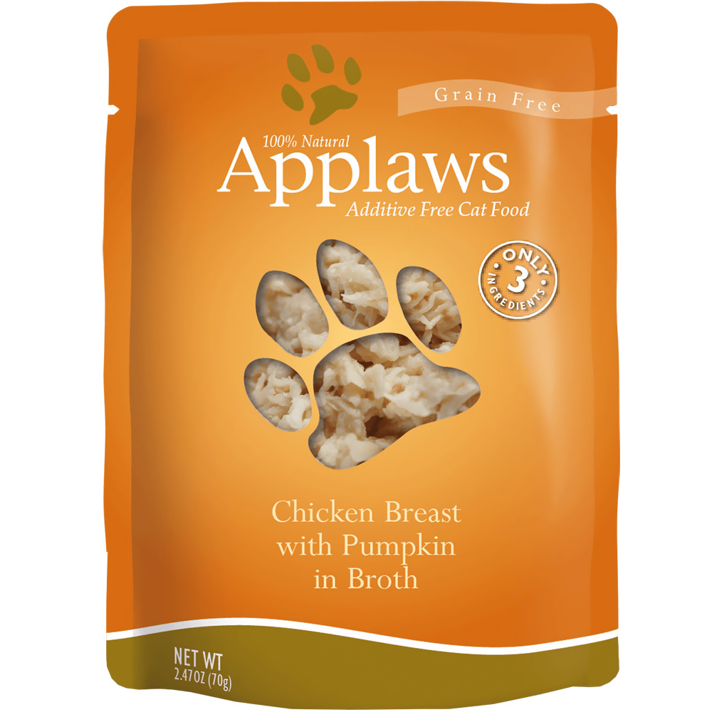 Image of Applaws Additive Free - Chicken Breast with Pumpkin in Broth (2.47 oz)