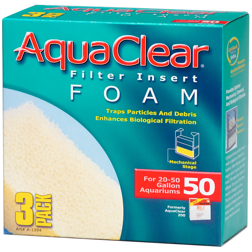 AquaClear 50 Filter Insert Foam (3 pk) im test