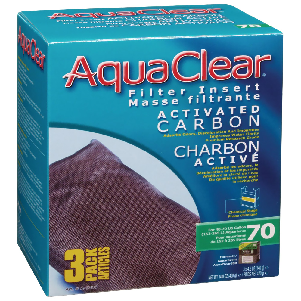 AquaClear 70 Filter Insert Activated Carbon (3 pack) im test