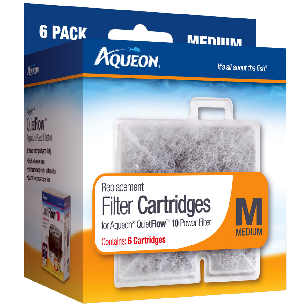 Aqueon Replacement Filter Cartridges Medium - 6 Pack - from EntirelyPets