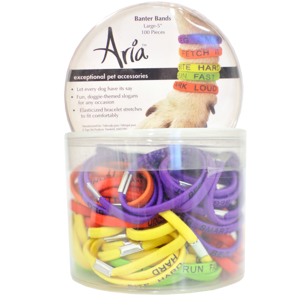 """Aria Banter Bands - Large 5"""" (100 pieces)"" im test"