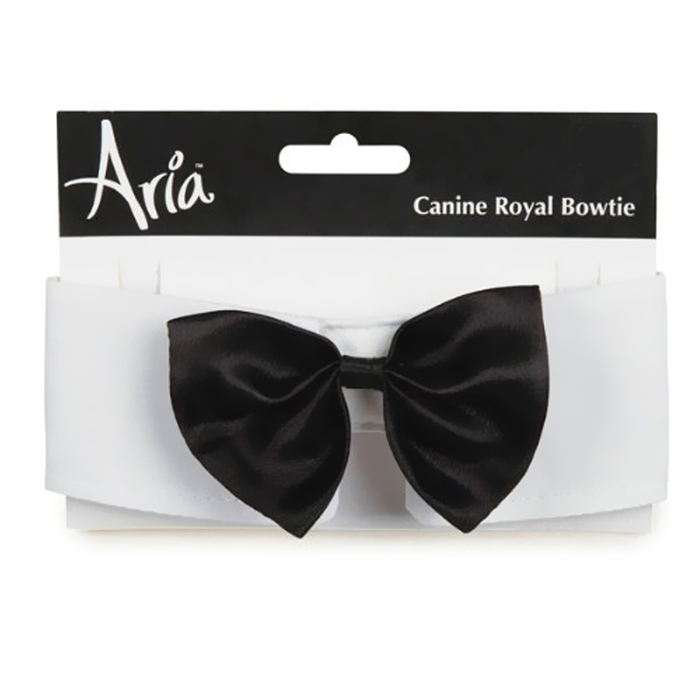 Aria Canine Royale Bowtie Black Satin - Medium im test