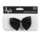 Aria Canine Royale Bowtie Black Satin - Small