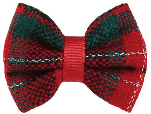 Image of Aria Yuletide Tartan Bow - For Dogs - from EntirelyPets